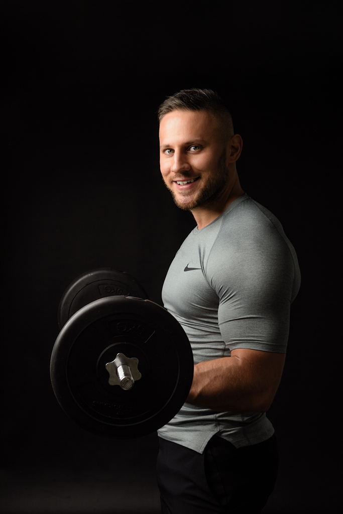 photo of a personal trainer from a Nottingham, Branging headshot photography