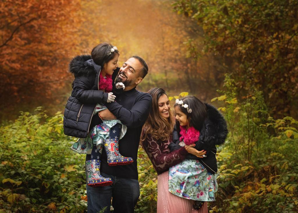 family photoshoot in Sherwood Pines Nottinghamshire