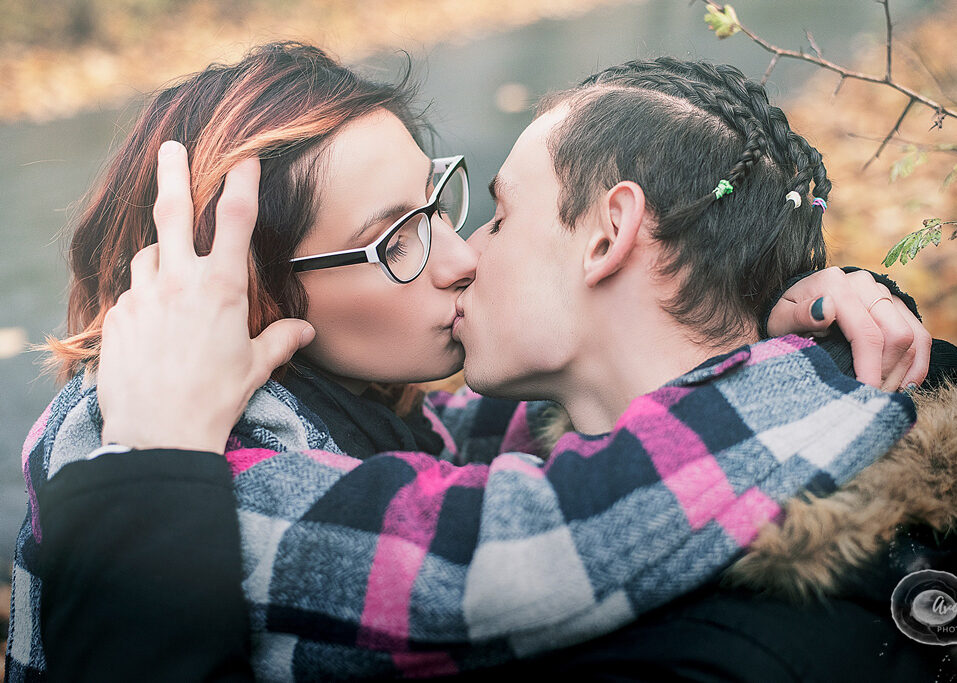 Kissing couple, Couple outdoor Photoshoot in Nottingham