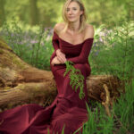 Woman Outdoor Portrait in Bluebells Wood in Nottingham, On Location Photoshoot Nottingham Derby East Midlands Eastwood