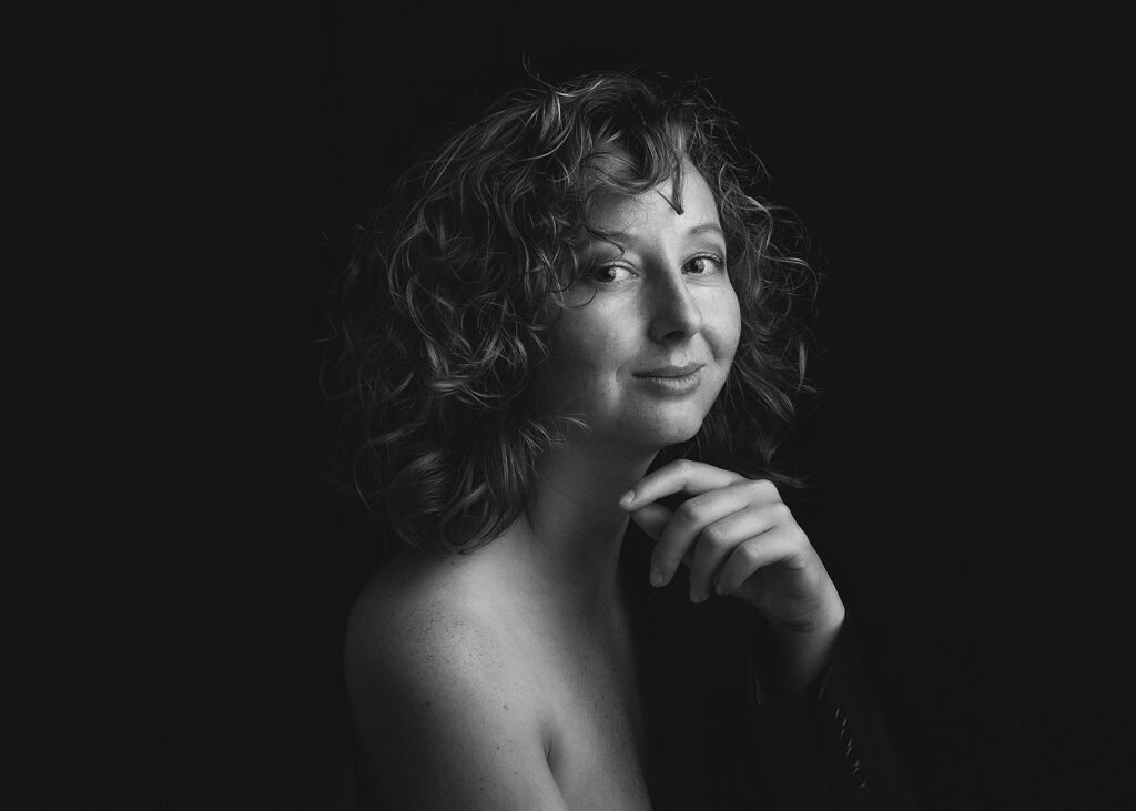 Fine Art Woman Studio Photography in Black and White