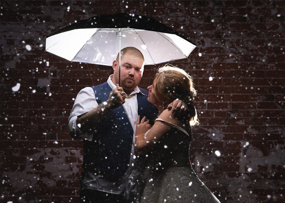 Wedding Portrait of a couple during outdoor Photoshoot Nottingham