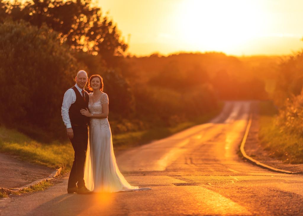 Wedding Couple outdoor portrait